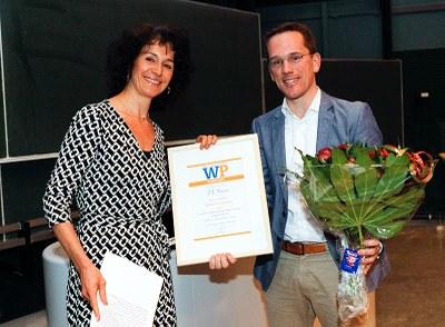 Apotheker Jesse Swen wint Opwijrda-prijs
