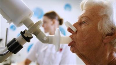 Longziekte vaststellen met elektronische neus