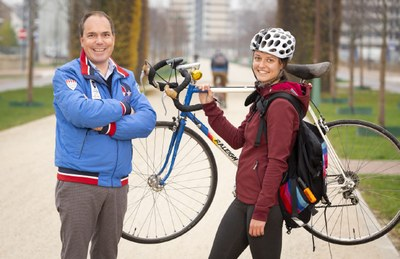 Medicijnpakje per fietskoerier